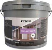Fitex-Muurverf-Acryl Latex Satin-Ral 9001 Cremewit-10 liter