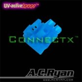 AC Ryan Connectx™ ATX4pin (P4-12V) Female - UVBlue 100x Blauw