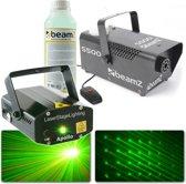 Laser met rookmachine - BeamZ Apollo sterrenhemel laser met S500 rookmachine en extra rookvloeistof
