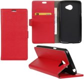 Litchi cover rood wallet case hoesje Alcatel One Touch Pop 4S