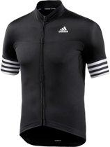 Adidas Fietsshirt Adistar Ss Korte Mouw Dames Zwart Maat Xl