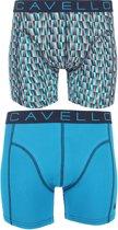 Cavello - 2-pack Boxershorts Print / Blauw - S