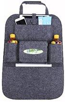 Luxe auto stoel organiser – Autostoel opbergzak – Organizer auto voor kinderen met tablet opbergvak en bekerhouders – Auto accessoire voor passagiers – Vilt – Antraciet