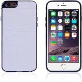 Crocodile TPU/PU Leren Softcase iPhone 6(s) plus - Wit