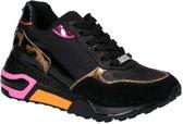 Chrome dames wedge sneaker - Zwart multi - Maat 36