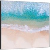 Dibond – Strand– 50x50cm Foto op Dibond;Aluminium (Wanddecoratie van metaal)
