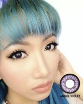 Kleurlenzen Geo Medicals - Angel Violet - Big Eyes Circle Lenzen CM-831 2x Sterkte -2.50