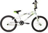 Ks Cycling BMX-fiets 20'' freestyle-BMX Hedonic wit-groen - 28 cm