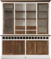 Rivièra Maison Driftwood Cabinet - Buffetkast - Wit/Hout- Met dubbel wijnrek