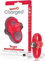 The Screaming O Charged Yoga Vooom Mini Vibrerende Cockring - Rood