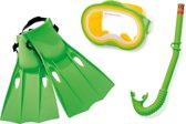 Intex - Snorkel set - 3-Delig - Groen