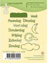 LeCrea - PL&Cards stempel Dagen van de Week Nederlands 55.2045