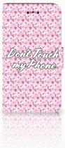 Nokia 1 Uniek Boekhoesje Flowers Pink DTMP