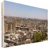 Uitzicht over Bagdad in Irak Vurenhout met planken 30x20 cm - klein - Foto print op Hout (Wanddecoratie)