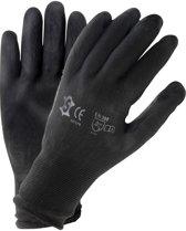 Handschoenen PU zwart maat 10 (XXL)