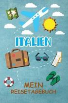 Italien Reisetagebuch: Gepunktetes DIN A5 Notizbuch mit 120 Seiten - Reiseplaner zum Selberschreiben - Reisenotizbuch Abschiedsgeschenk Urlau