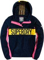 Superdry Chroma Overhead  Sportjas - Maat L Volwassenen - navy/roze