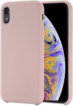 Mobigear Liquid Silicone Rose Goud Iphone XR