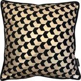 Velvet Bodhi Zwart Kussenhoes | Fluweel / Polyester | 45 x 45 cm | Goud