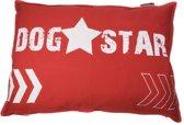 Lex & Max Dogstar - Losse hoes voor hondenkussen - Rechthoek - 100x70cm - Rood