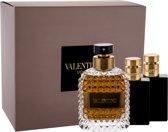 Valentino Uomo - Giftset -  eau de toilette    Showergel    Aftershave balm for Man