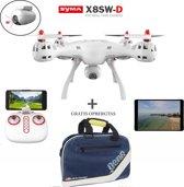 Syma X8SW-D met Draaibaar FPV live camera drone inclusief opbergtas