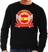 Zwart Spain drinking team sweater heren XL