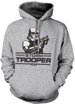 Merchandising STAR WARS - Sweatshirt Aiming Stormtrooper - H.Grey (XL)