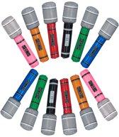 relaxdays 24 x opblaasbare microfoon - micro kinderverjaardagen - microphone opblaasbaar