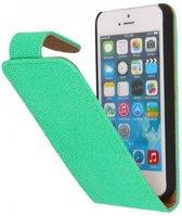 Mobieletelefoonhoesje.nl - Apple iPhone 5 / 5s / SE Hoesje Devil Classic Flip Groen