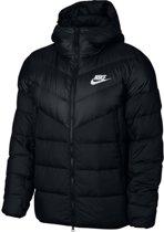 Nike Nsw Dwn Fill Wr Jkt Hd Heren Vest - Black/Black/Black/(White) - Maat XL