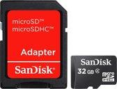 Sandisk Micro SD kaart 32 GB + SD adapter