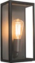 QAZQA Rotterdam - Wandlamp - 1 Lichts - 16 cm - zwart