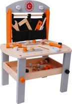 Playwood Houten kinderwerkbank Oranje - Zilver