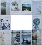 Condoleance kaarten - Rouwkaarten - Set van 10--L-024