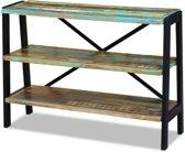 vidaXL Dressoir - 3 planken - Gerecycled hout - 110x35x78 cm