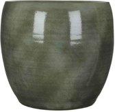 Mica Decorations - lester ronde pot groen - maat in cm: 35 x 38