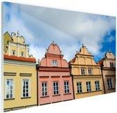Kleurrijke huizen Warschau Glas 120x80 cm - Foto print op Glas (Plexiglas wanddecoratie)