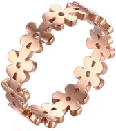 Cilla Jewels ring Verguld edelstaal Flower Rose-16mm