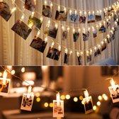 LED lichtslinger voor foto's of kerstkaarten - 4 meter - Warm wit
