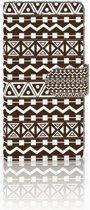 Huawei P10 Uniek Boekhoesje Aztec Brown
