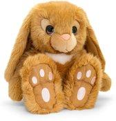 Keel Toys pluche konijn bruin konijnen knuffel 35 cm - Konijnen knuffeldieren - Speelgoed voor kind
