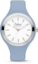 Colori Macaron 5 COL508 Horloge - Siliconen Band - Ø 44 mm - Licht Blauw