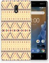 Nokia 3 Uniek TPU Hoesje Aztec Yellow