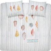 Cinderella Conchae beach - Dekbedovertrek - 240 x 200/220 cm - Lits-jumeaux - White
