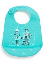 Modern Twist Robot Love Slabbetje met Opvangbakje - Electric Blue