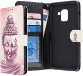Samsung Galaxy A8 2018 hoesje - CaseBoutique - Boeddha print - Kunstleer