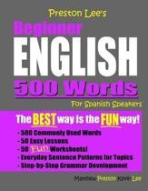 Preston Lee's Beginner English 500 Words For Spanish Speakers