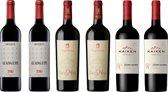 Herfstwijnen - Rode Wijn - 6 x 75 cl - Doos