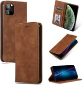 Mobigear Magnetic Retro Luxe Wallet Hoesje Bruin Apple iPhone 11 Pro Max